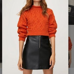 ARITZIA WILFRED FREE - Roxanne leather skirt